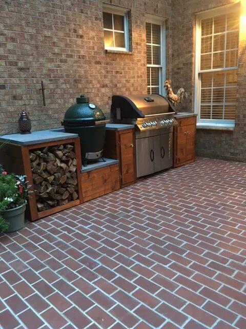 Brick Outdoor Flooring : Clay thin brick patio floor tile