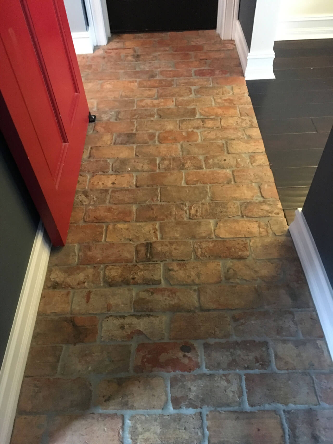 Reclaimed brick flooring thin brick floors brick floor tile reclaimed thin brick floor dailygadgetfo Gallery