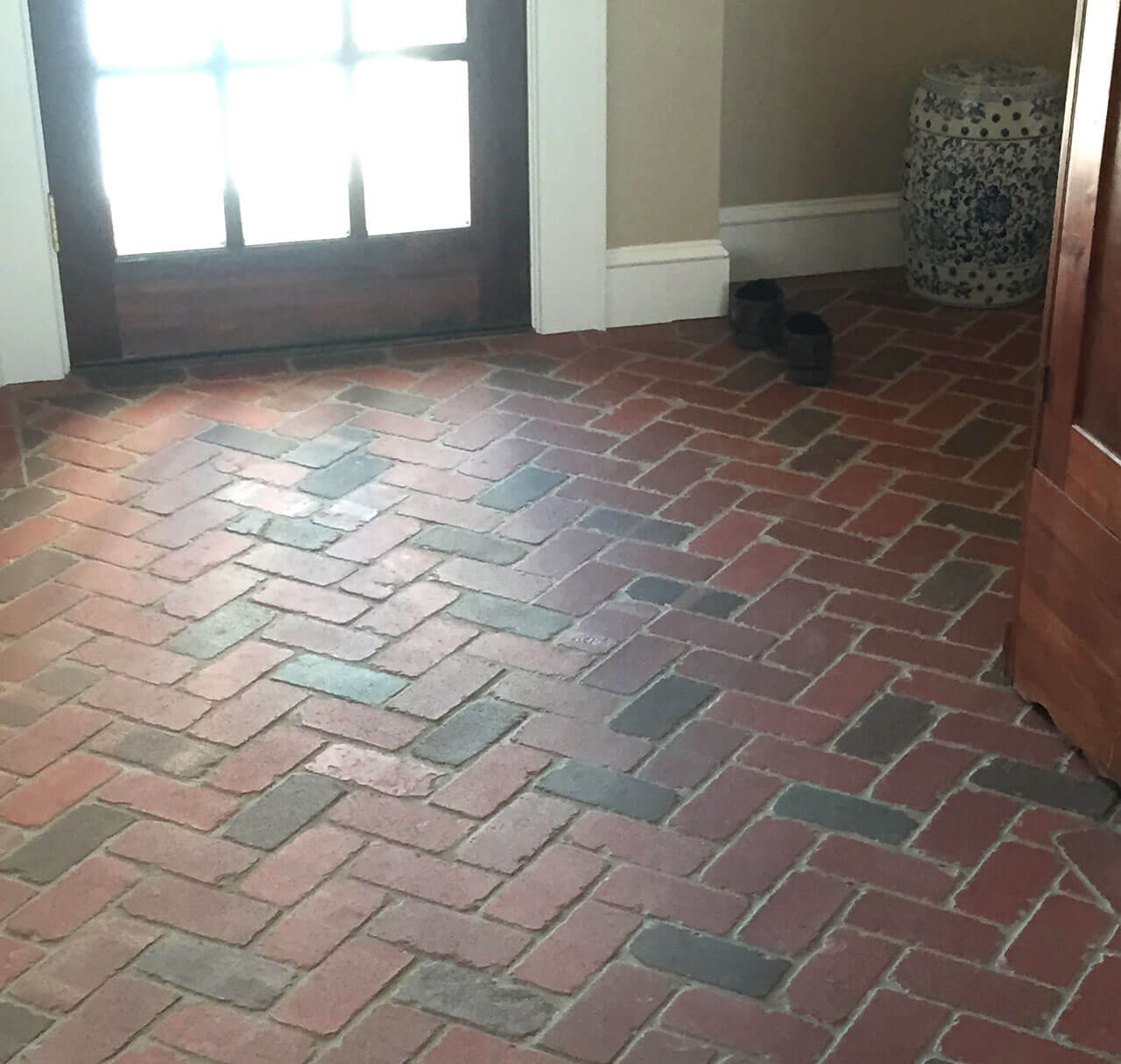 Brick floor tile gallery real brick wall tiles tumbled thin brick floor dailygadgetfo Gallery